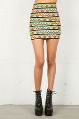 Pleasure Doing Business Pleasure Doing Business Aztec 8 Band Skirt in Blue - Lyst