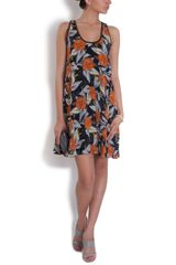 Proenza Schouler Hibiscus Print Tank Dress in Multicolor (hibiscus) - Lyst