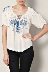 Rebecca Taylor Moroccan Embroidered Top - Lyst
