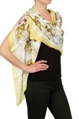 Roberto Cavalli Submarine Print Silk Chiffon in Yellow - Lyst