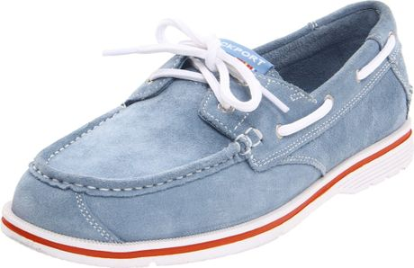 Rockport Rockport Mens Seacoast Drive Boat Shoe in Blue for Men (light