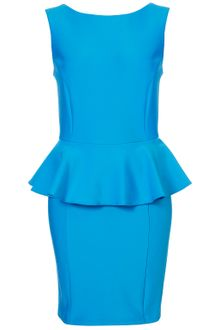 Topshop Peplum Scuba Pencil Dress - Lyst