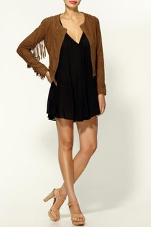Winter Kate Sattar Suede Jacket - Lyst