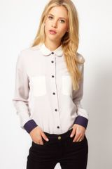 ASOS Collection  Shirt with Colour Block - Lyst