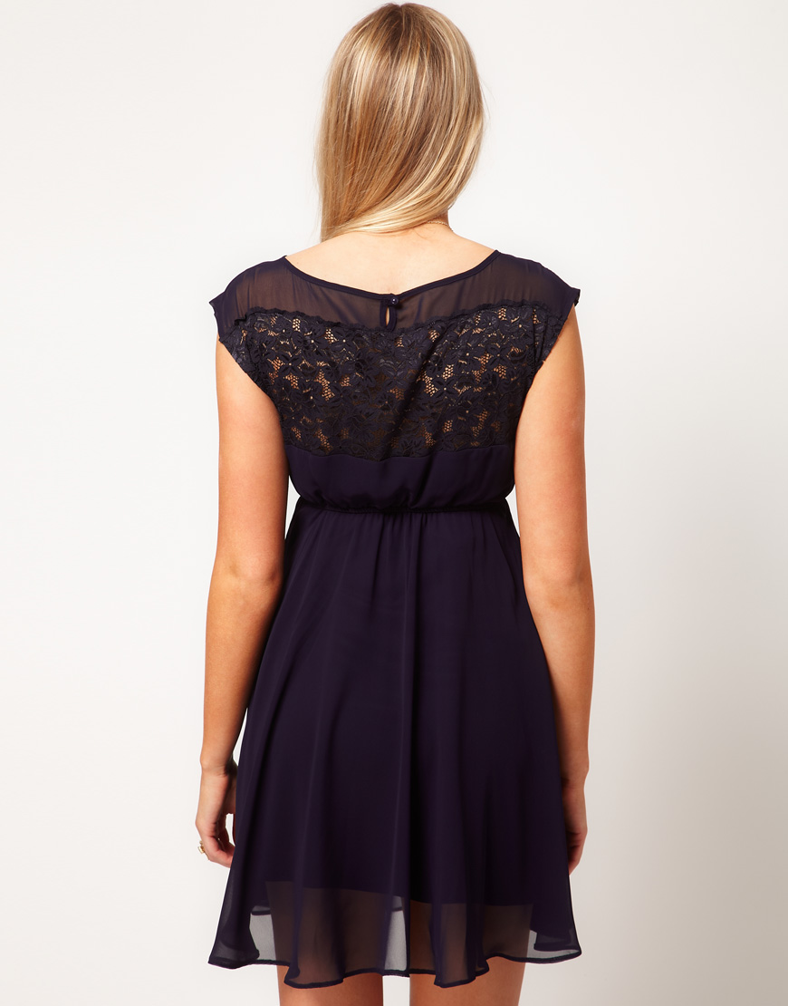 27094fe96ed ASOS Asos Maternity Exclusive Skater Dress with Lace Insert in ...