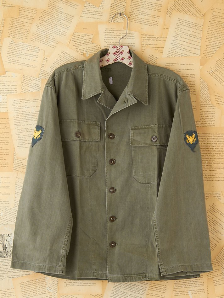 Free People Vintage Military Cargo Jacket In Green Lyst