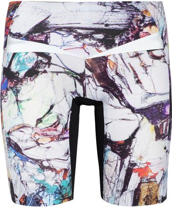 Lucas Hugh Krypton Printed Stretch Cycling Shorts - Lyst
