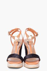 Marc Jacobs Tan Black Tstrap Heels in Black (tan) - Lyst