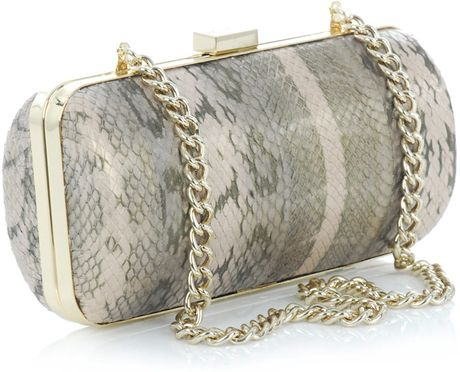 Max Mara Tahiti Clutch Bag in Gray (pink) - Lyst