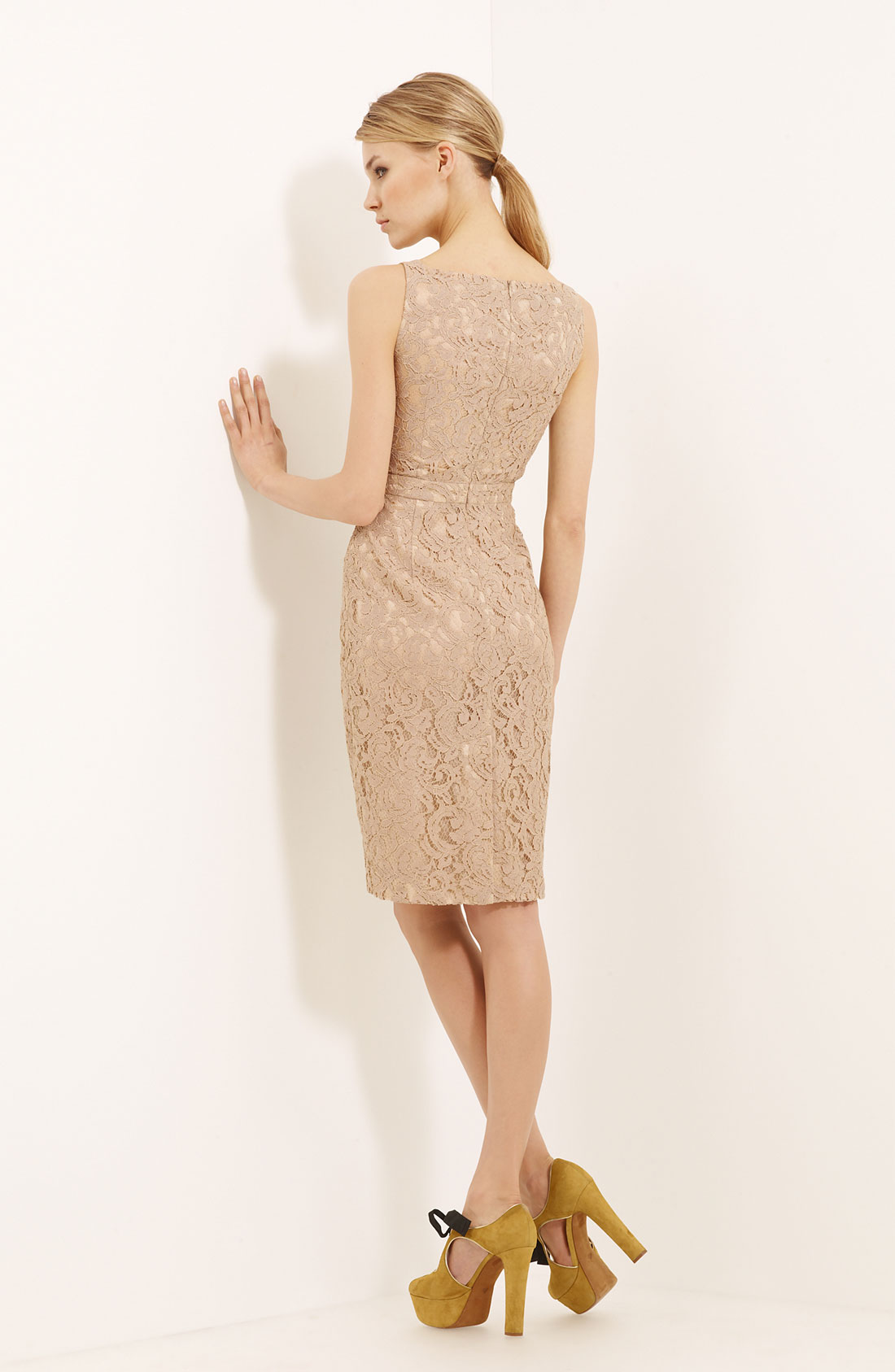Lyst boutique moschino lace dress in natural Inexpensive chic