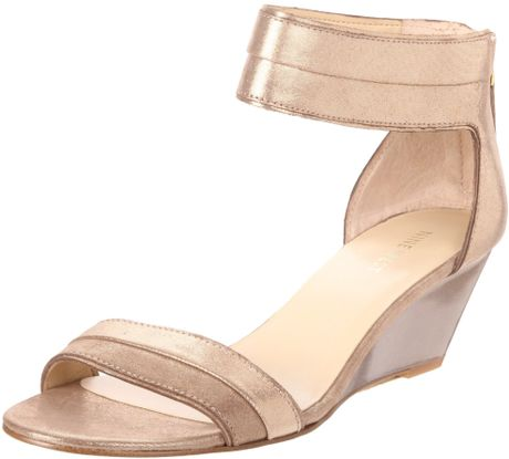 Nine West Nine West Womens Packpunch Anklestrap Sandal in Beige (dark natural leather) - Lyst