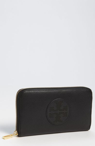 Tory Burch Kipp Continental Wallet in Black - Lyst