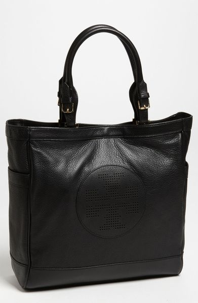 Tory Burch Kipp Tote in Black - Lyst