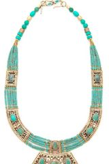 Vanessa Mooney Moonshield Turquoise Necklace - Lyst