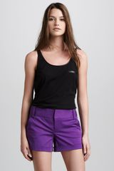 Alice + Olivia Cady Cuffed Shorts Purple - Lyst
