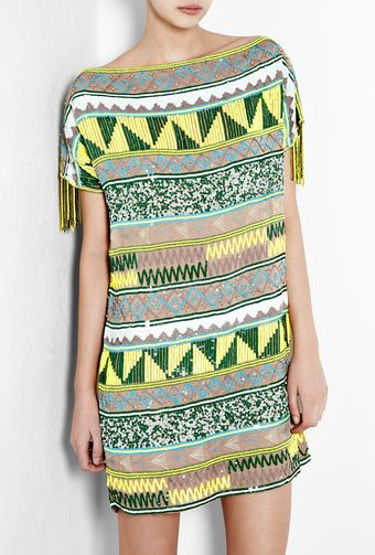 Antik Batik Jacara Aztec Beaded Mini Dress - Lyst