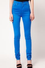 Cheap Monday Cheap Monday High Waist Skinny Jeans in Blue - Lyst