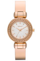 DKNY Glitz Small Round Dial Bangle Watch - Lyst