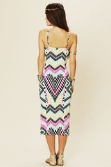 Free People Fitted Midcalf Dress in Multicolor (multi) - Lyst