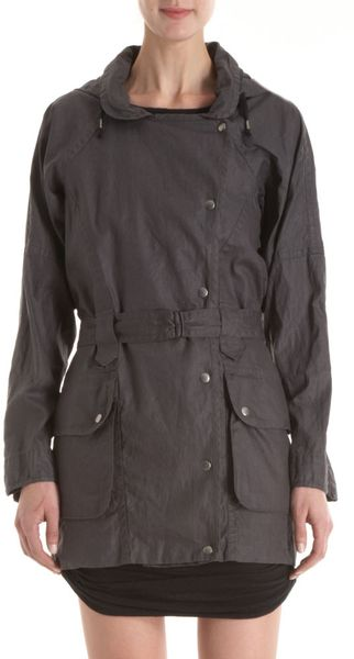 Isabel Marant Malky Raincoat in Gray (blue) - Lyst