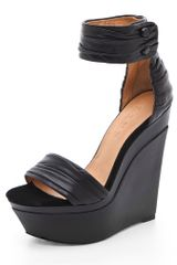 L.a.m.b. Iowa Platform Wedge Sandals in Black - Lyst