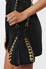Nasty Gal Pierced Bucket Bag Black in Black - Lyst