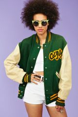 Nasty Gal Cal Poly Letterman Jacket - Lyst