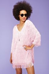 Nasty Gal Fringe Binge Mini Dress in Pink - Lyst