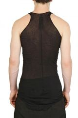 Rick Owens Miniribbed Cotton Tank Top in Black for Men - Lyst