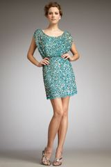 Aidan Mattox Sequined Dress - Lyst