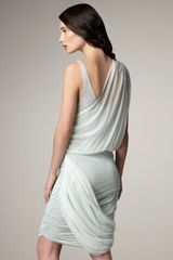 Alice + Olivia Oneshoulder Drape Dress in Blue (pale aqua) - Lyst