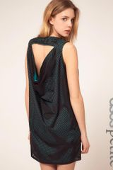ASOS Collection Asos Petite Exclusive Open Mesh Cowl Back Mini Dress - Lyst