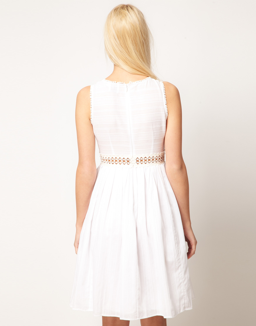 Asos Collection Asos Peplum Top In Sequin In Natural: ASOS Collection Asos Petite Exclusive Midi Dress