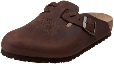Birkenstock Birkenstock Womens Boston Clog in Brown (habana) - Lyst
