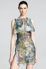 Christopher Kane Paneled Floral-print Dress - Lyst