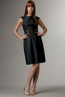 David Meister Belted Full-skirt Dress - Lyst
