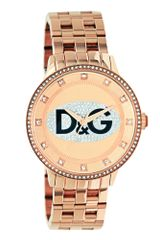 D&G Rose Gold Ion Plated Stainless Steel Bracelet 46mm - Lyst