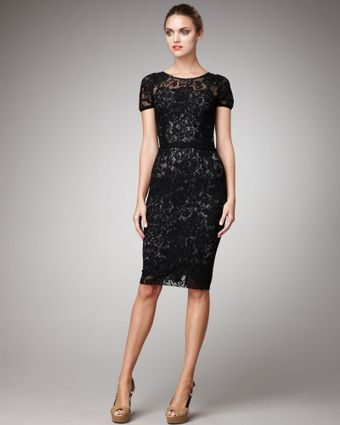 Dolce & Gabbana Short-sleeve Lace Dress - Lyst
