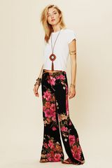 Free People Floral Drawstring Bell Bottoms - Lyst
