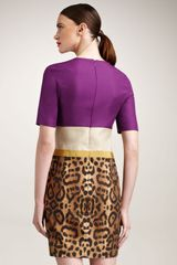 Giambattista Valli Colorblock Leopard Dress in Multicolor (multi color) - Lyst