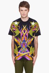 Givenchy Black Birds Of Paradise Tshirt - Lyst