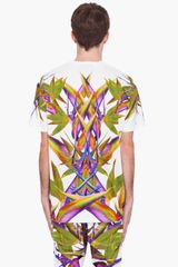 Givenchy White Birds Of Paradise Tshirt in White for Men - Lyst