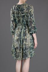 Isabel Marant Python Pattern Dress in Green - Lyst