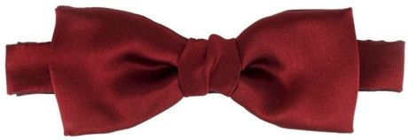 Lanvin Twill Silk Bow Tie in Red for Men - Lyst