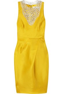 Lela Rose Embellished Woven Silk Organza Dress - Lyst
