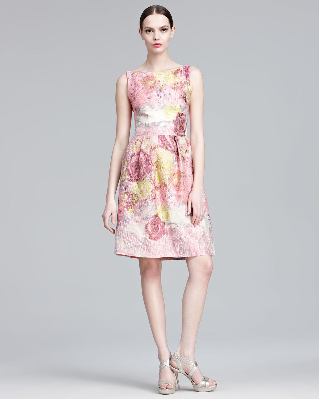 Lela Rose Floraljacquard Sheath Dress