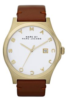 Marc By Marc Jacobs Henry Leather Strap Watch - Lyst