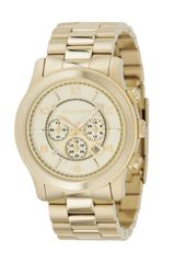 Michael Kors Golden Oversized Runway Watch - Lyst