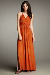 Milly Safari Maxi Dress - Lyst