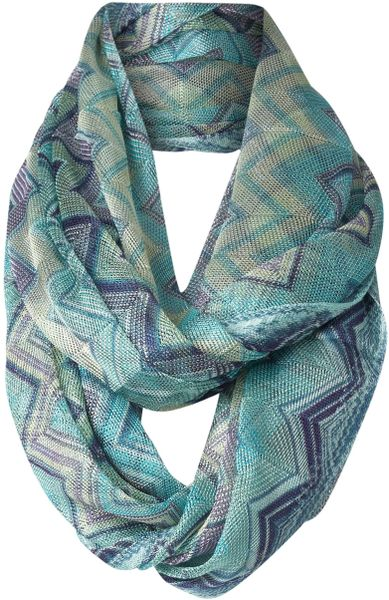 Missoni Textured Snood in Blue - Lyst